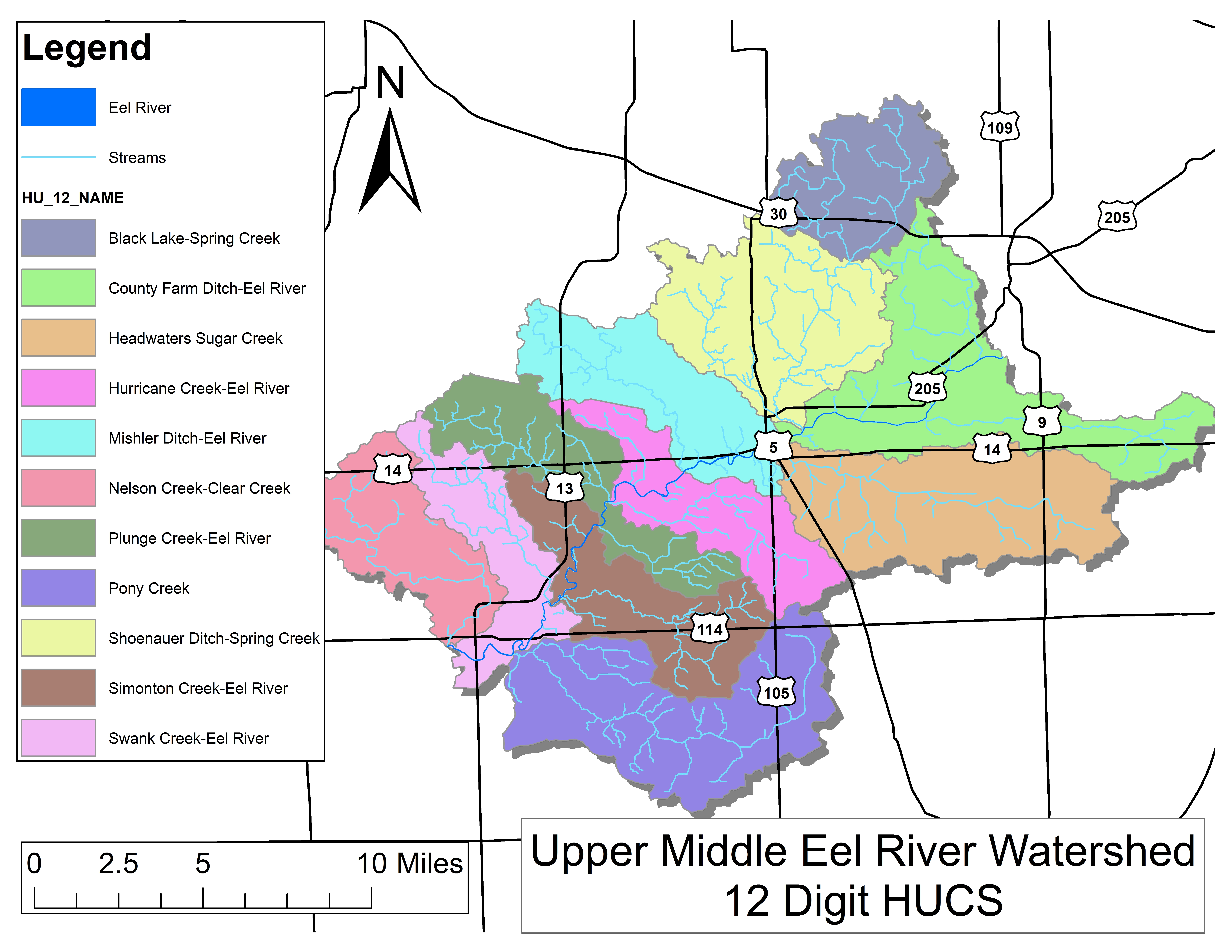 North Manchester Indiana Map.Eel River Watershed Maps Manchester University
