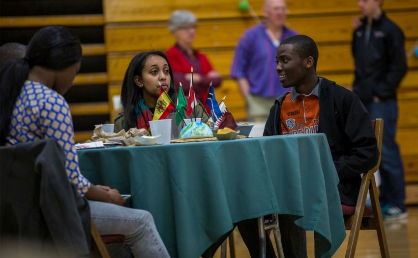 International Students at Taste of Africa