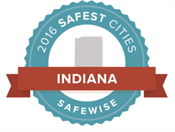 Top 20 Safest Cities in Indiana 2016 badge