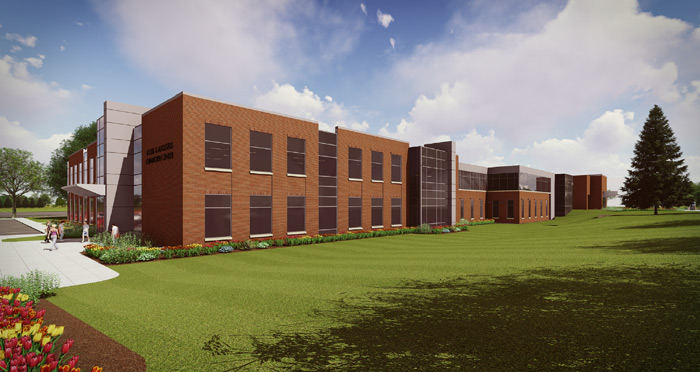 Latest rendering of the Lockie and Augustus Chinworth Center