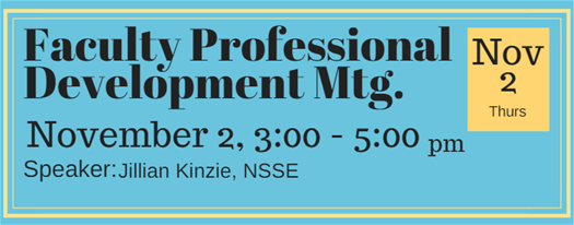 Faculty Professional Development November 2
