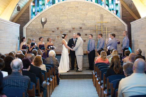 Wedding at the Petersime Chapel