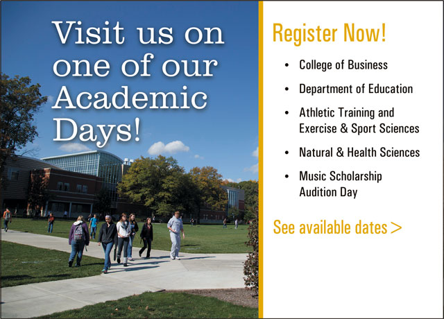 Academic Visit Days, Spring 2021. Click for Dates.