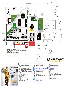 Campus map 2018 color coded parking zones UCANCRUSH HUNGER