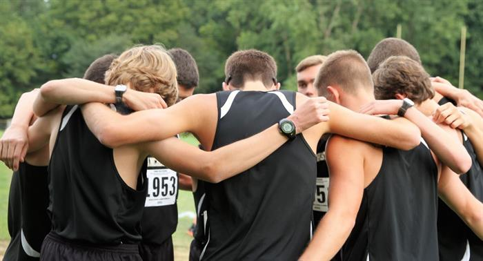 Cross-Country huddle