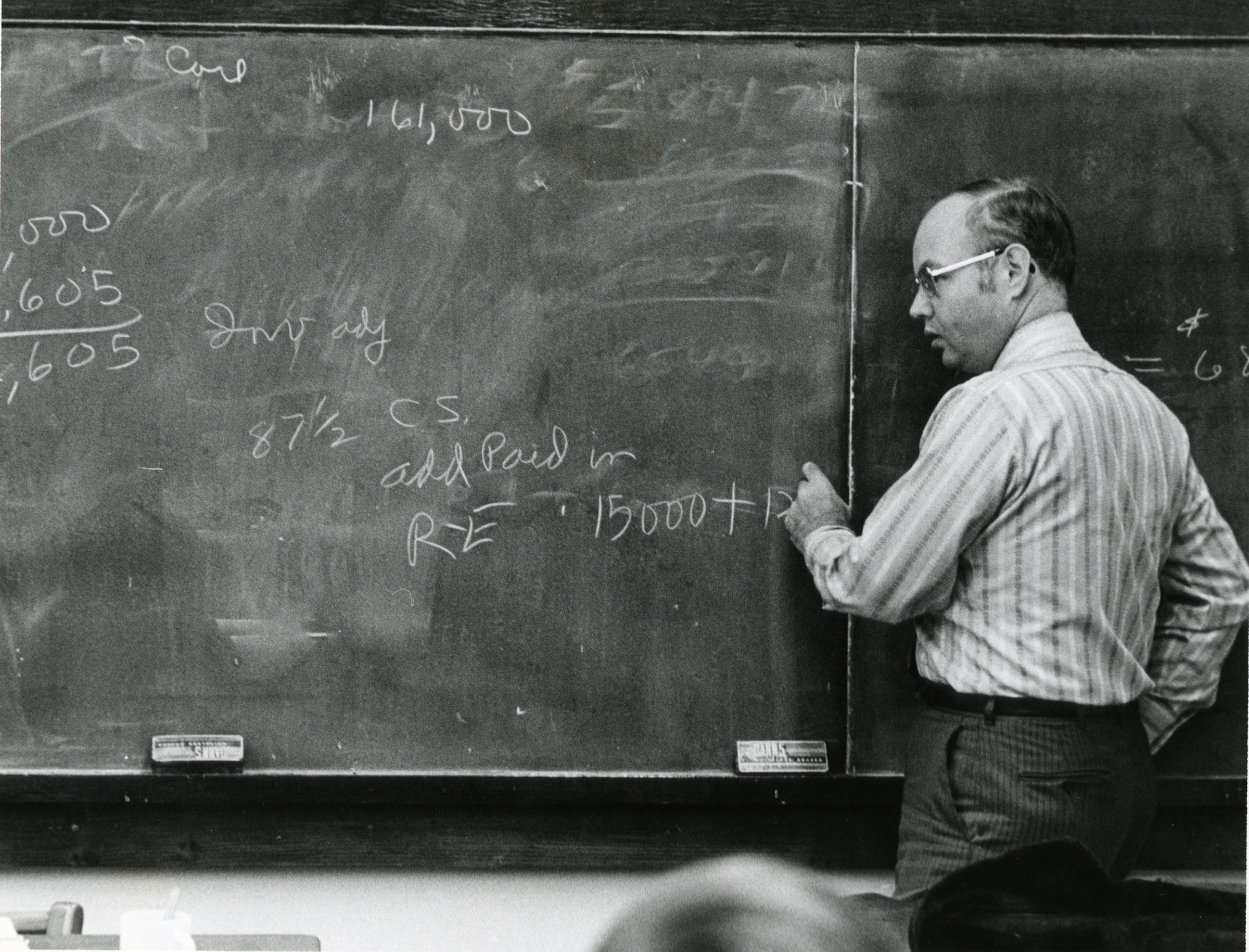 Art Gilbert teaching at Manchester in the 1970s