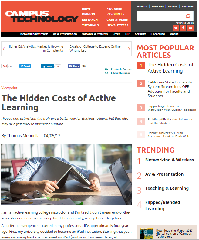 hidden costs of active learning article
