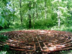 Prayer Labyrinth behind Cordier