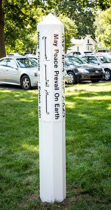 Peace Pole dedicated Sept. 16, 2016
