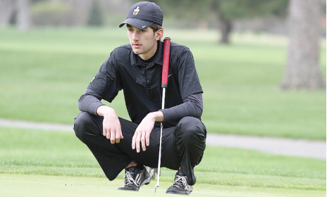 Senior Connor Labedz contemplates his next stroke.