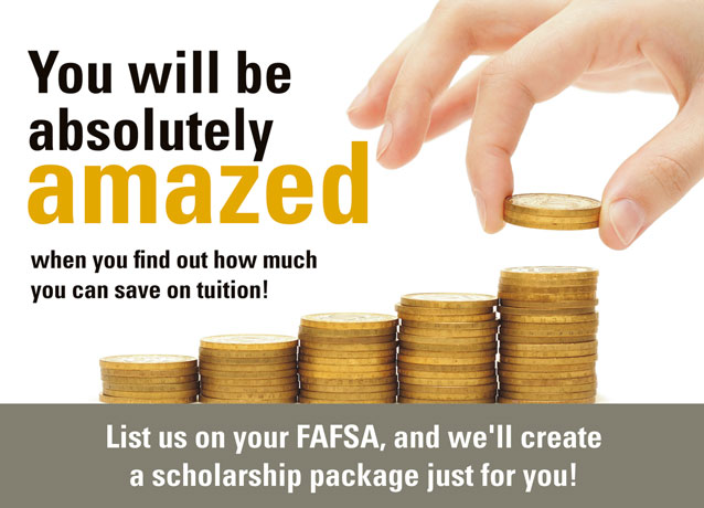 List us on your FAFSA