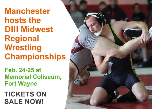 Manchester hosts the DIII Midwest Regional Wrestling Championships