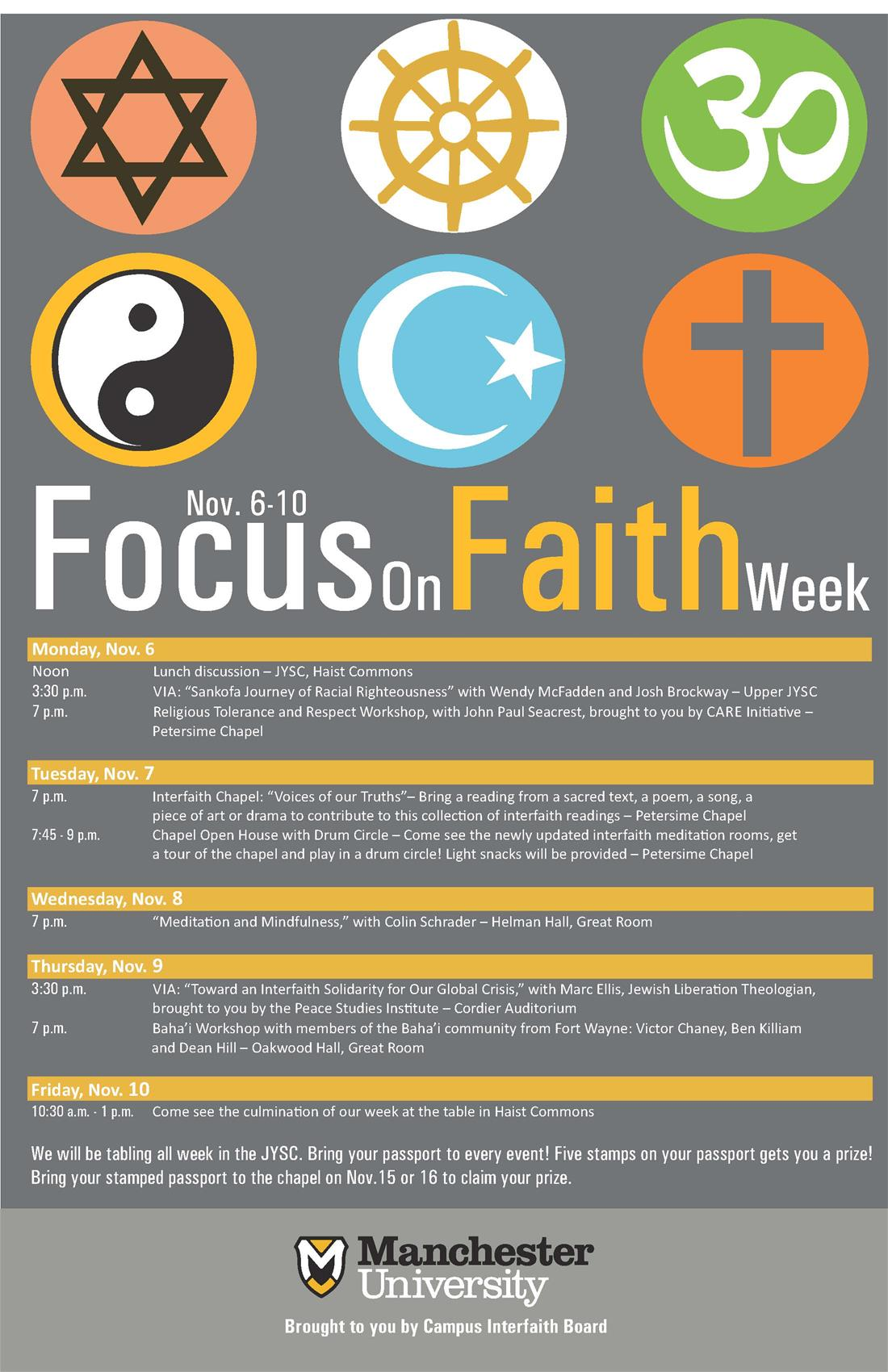 FOCUS ON FAITH WEEK 2017