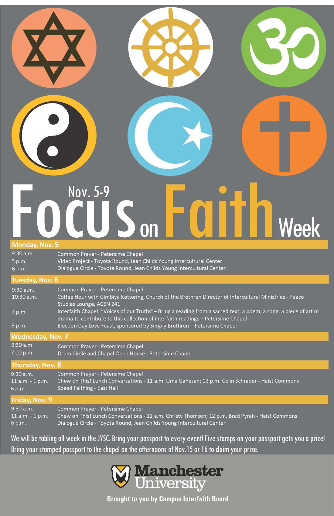 FOCUS ON FAITH WEEK POSTER 2018