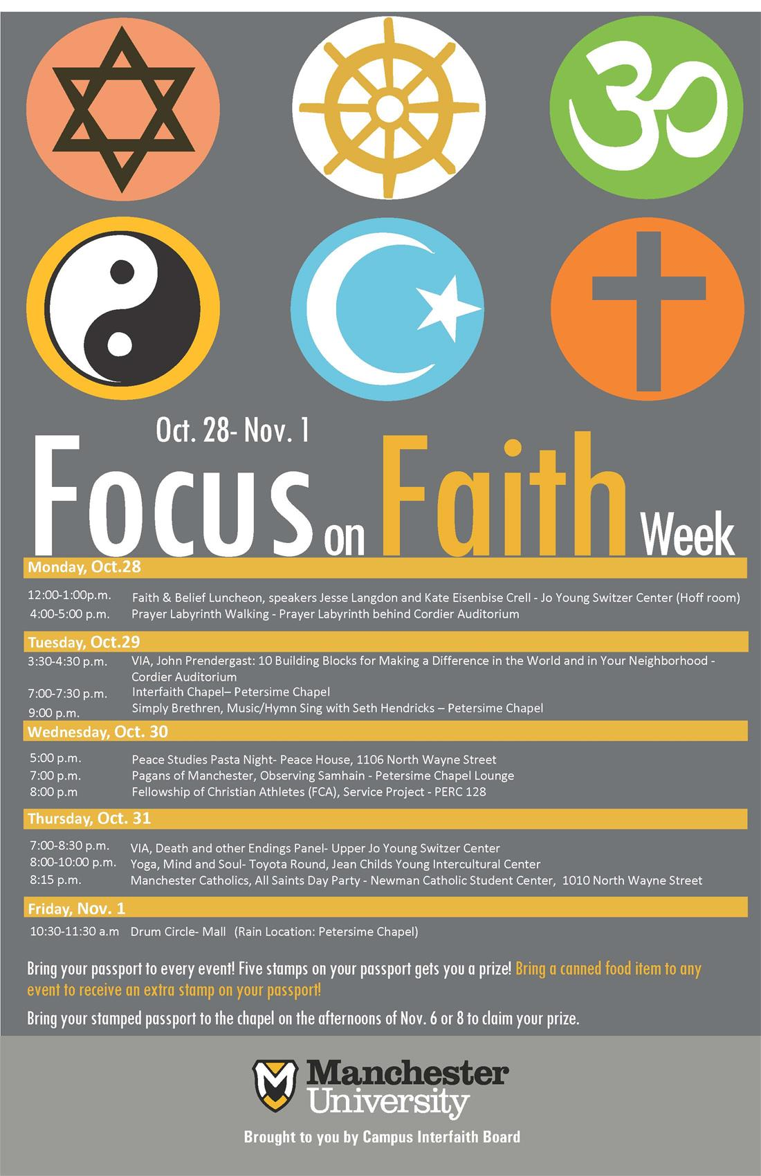FOCUS ON FAITH WEEK POSTER 2019